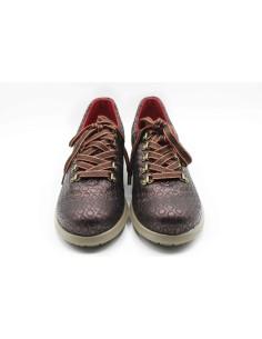 Zapato sport piel grabada frontal