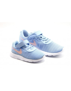 Deportiva Nike Tanjun Azul Coral kid twinsisters shoe shop niños y mamas