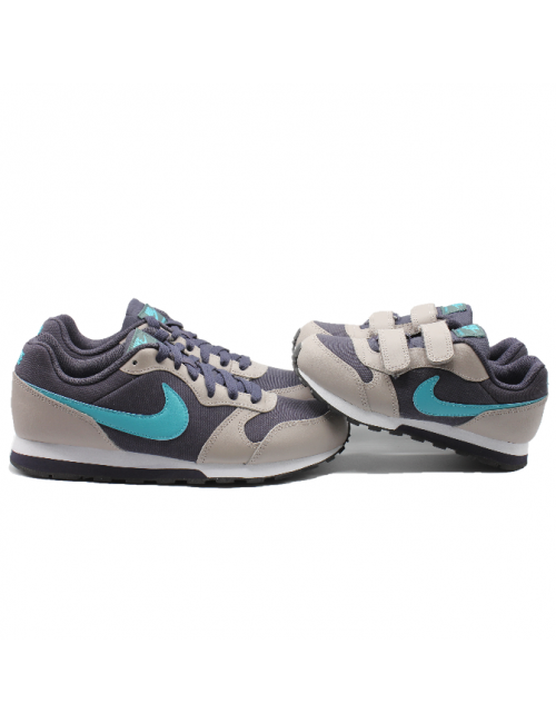 deportiva nike runner gris negro azul twinsisters