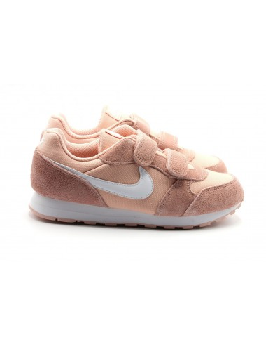 Deportiva Nike Md Runner Coral Blanco