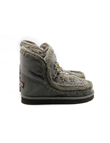 MOU ESKIMO 18 CRYSTAL FLOWERS IRON DARK BROWN STITCH