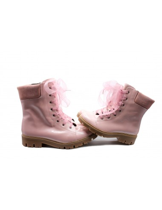 Bota charol tipo martens rosa twinsisters